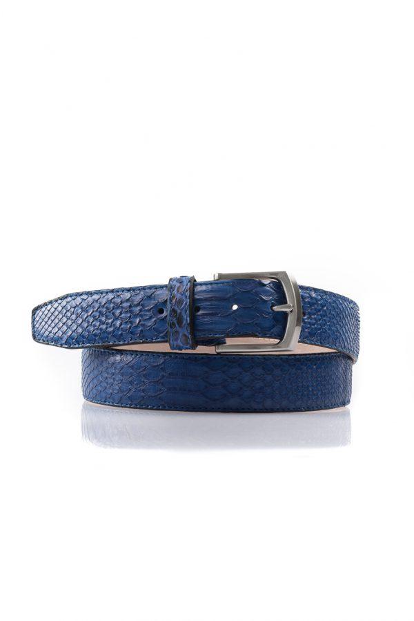 Python leren riem, cobalt blauw