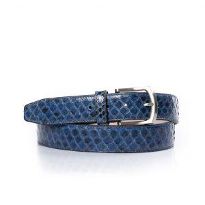 Python leren riem, indigo blauw