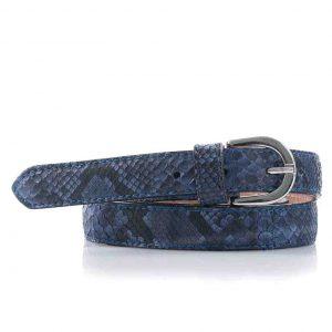 Python leren dames riem, jeansblauw