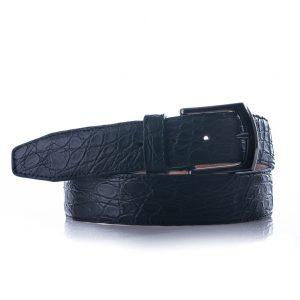 Crocodile riem, zwart