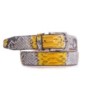 Python leren riem, geel, naturel