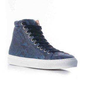 Python leren sneaker, donker blauw MAAT 43 Riccamente OUTLET