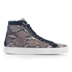 Python leren sneaker, taupe, zwart MAAT 42 Riccamente OUTLET