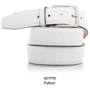 Python leren riem, wit Riccamente OUTLET