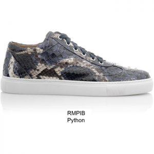 Sneaker van python leer, Indio blauw